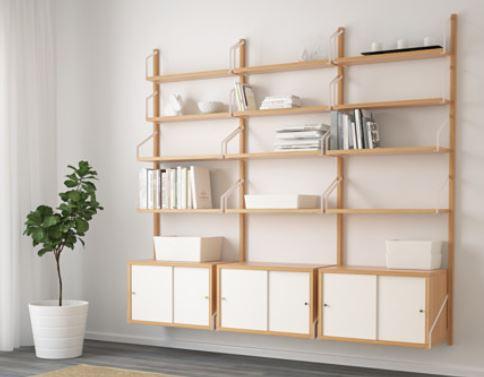 Svalnäs Ikea Combinazione Da Parete In Bambù The Family Planner