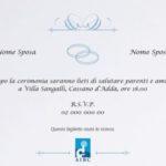 Partecipazioni matrimonio solidali AIRC